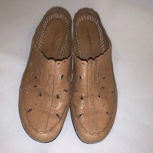 Easy Spirit Slip On Leather Slides Mule Shoes 8